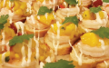 Shrimp & mango crostini