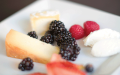 Artisan cheeses and fruit